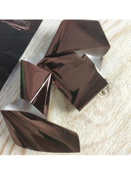 Фольга для дизайна ногтей коричневая