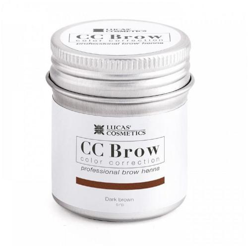 Хна для бровей CC Brow (dark brown) в баночке (темно-коричневый), 5 гр в Кирове