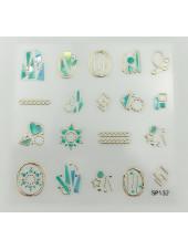 3D наклейки для дизайна ногтей №132