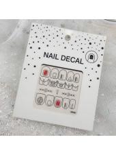 3D наклейки для дизайна ногтей №58