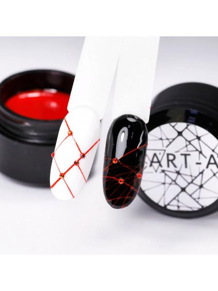 Гель-Паутинка (Spider Gel) для дизайна ногтей Art-A №4 Красный