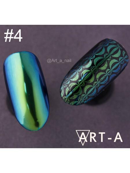 """Пигмент для дизайна ногтей """"Мятный жук"""" №4"""