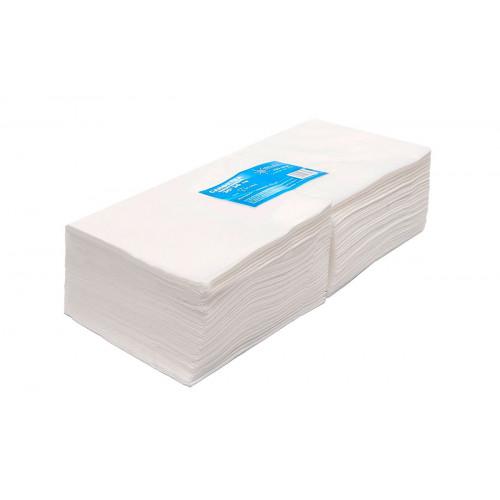 Салфетка одноразовая 30*30 спанлейс белый White line 100шт. пачка
