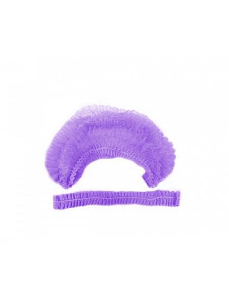 """Шапочка нетканая """"Шарлотта"""" фиолетовая 100 шт."""