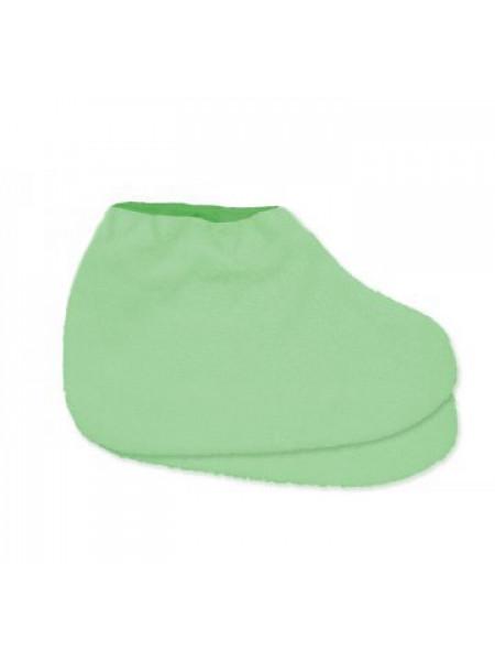 Носки д/парафинотерапии JN махровые Светло-зеленый/зеленый