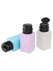 Дозатор пластиковый для жидкостей 250 мл. с помпой прямоугольный (в ассортменте)