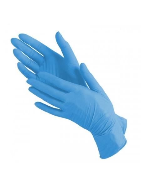 Перчатки нитриловые голубые Nitrile, M 50 пар.