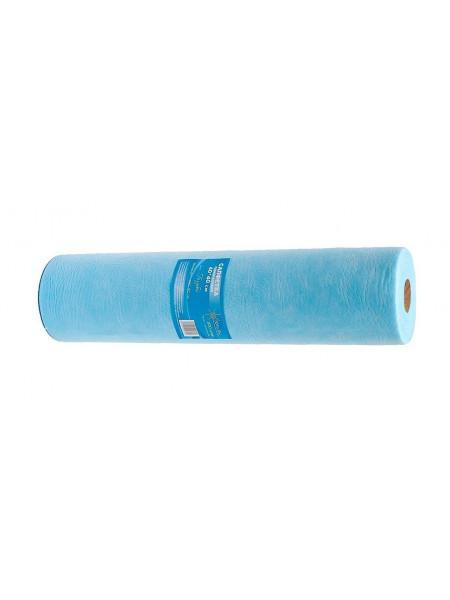 Салфетка одноразовая 40*40 рулон SS стандарт голубой 200шт.